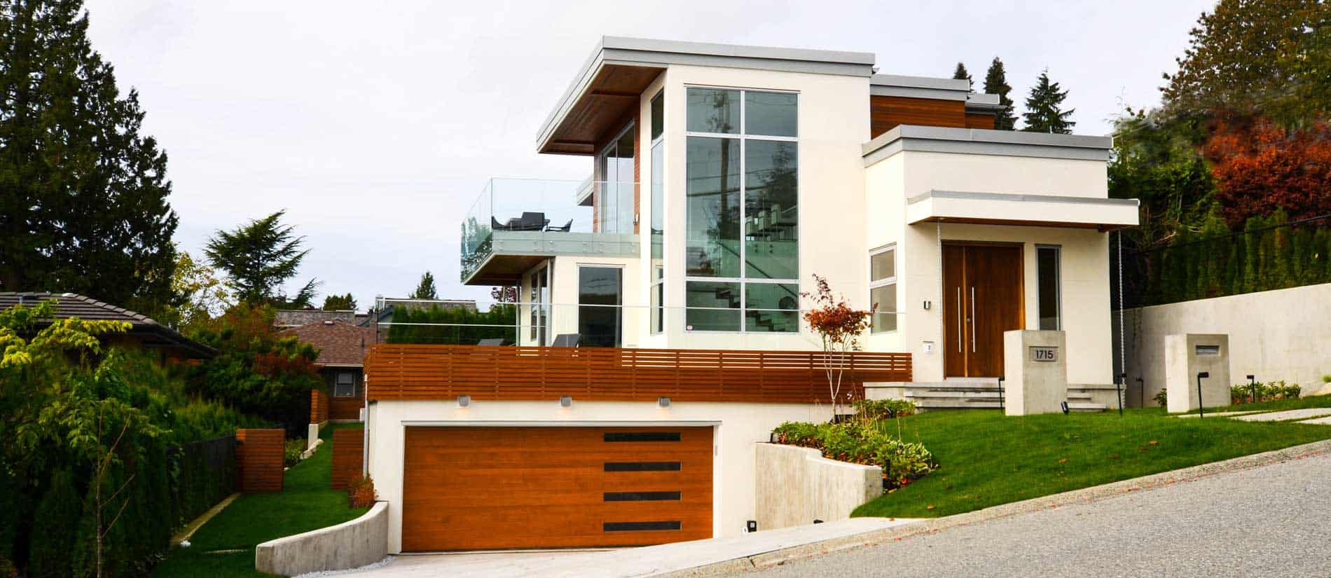 Modern custom home in North Vancouver.